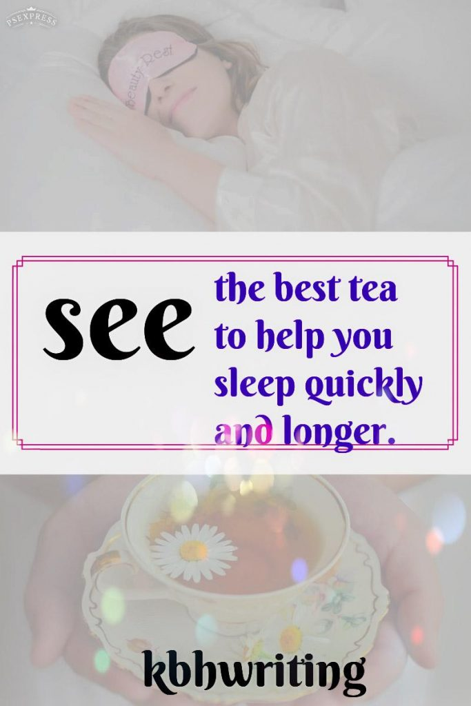 Chamomile tea to fall asleep fast