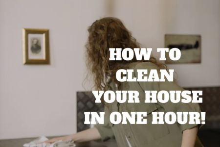 HOW TO CLEAN YOUR HOUSE IN JUST ONE HOUR
